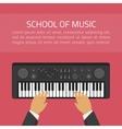 School of music vector image