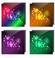 sparkling colorful backgrounds vector image