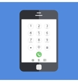 smartphone on blue background Eps 10 vector image