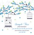 wedding invitation card with bird vector image