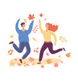 a young couple is dancing on street in the vector image vector image