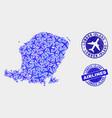 airflight mosaic lombok island map and vector image vector image