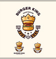 awesome burger king logo design vector image