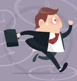 B Simple cartoon of a businessman running vector image vector image