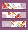 baking tools set of banners i vector image vector image