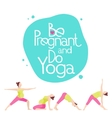 Banner for advertising pregnant yoga vector image