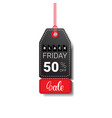 black friday sale tag isolated special offer icon vector image vector image