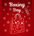 boxing day sale of a vertical banner or card a vector image