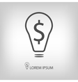 Bulb with dollar as business idea sign vector image vector image