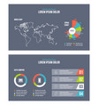 business infographic presentation slides template vector image vector image