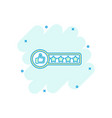 cartoon customer review 4 stars icon in comic vector image vector image
