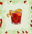 cocktail american scetch classic alcoholic vector image vector image