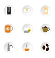 Drink icons set flat style vector image vector image