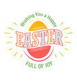 easter holiday isolated icon chicken and cracked vector image vector image