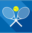 elegant tennis icon vector image