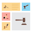 flat icon lawyer set of court crime law and vector image vector image