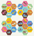 Flat icons set of fashion Footwear vector image vector image