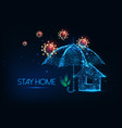 futuristic stay at home during coronavirus vector image vector image