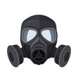 gas mask protection army equipment from toxic and vector image
