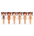girl body anatomy cartoon of vector image