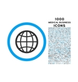 Globe Rounded Symbol With 1000 Icons vector image