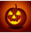 Halloween scary pumpking vector image vector image