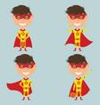 Halloween superhero boy vector image
