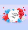 happy valentine day congratulation with sign in vector image