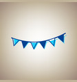 holiday flags garlands sign sky blue icon vector image