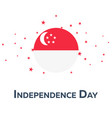 independence day of singapore patriotic banner vector image vector image