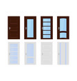 interior doors brown and white wooden set of vector image vector image