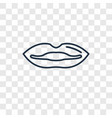 lips concept linear icon isolated on transparent vector image