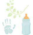 little man baby shower related items collection vector image