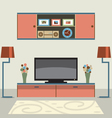 Living Room Decorated vector image vector image
