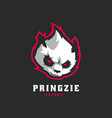 logo panda simple mascot style vector image