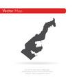 map monaco isolated black on vector image