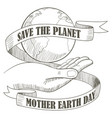 mother earth day vector image vector image