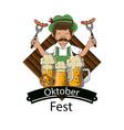 oktober festival concept vector image vector image