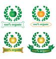 organic food logo symbol vector image vector image