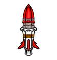 painted cosmic rocket vector image vector image