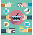 Payments and sales Flat concept of business vector image vector image
