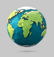polygonal globe icon vector image