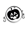 pumpkin halloween card icon vector image vector image
