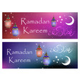 ramadan kareem set of banners with space for text vector image vector image
