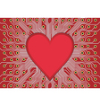 red electronic circuit board heart vector image
