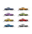 Retro sport cars sketch for your design vector image vector image