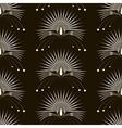 Seamless pattern monochrome art deco vector image vector image