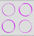 set collection of abstract round frames vector image vector image