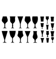 set glass for alcohol beverage vector image vector image