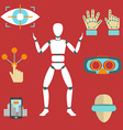 Set of icons of devices for virtual reality - vector image vector image